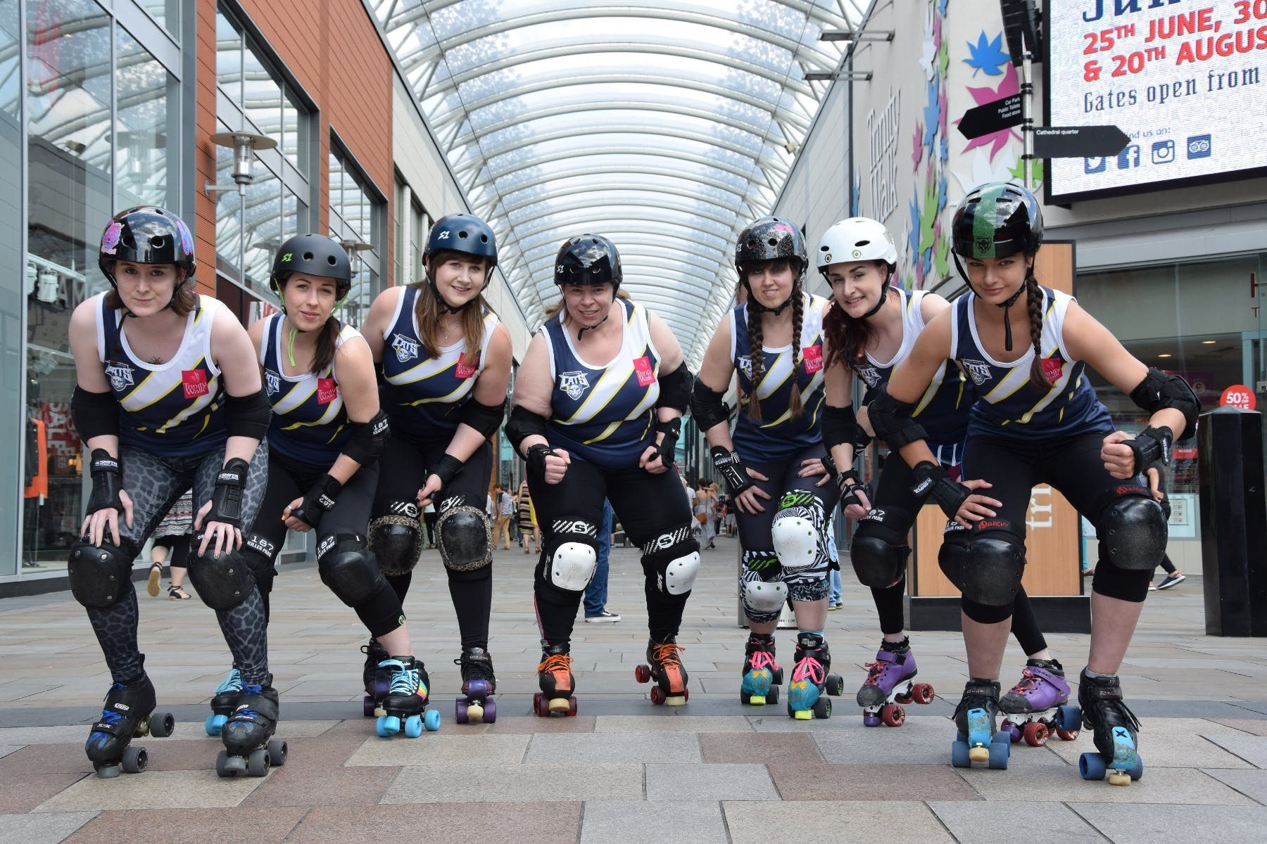Trinity Rollers in kit sponsored by Trinity Walk